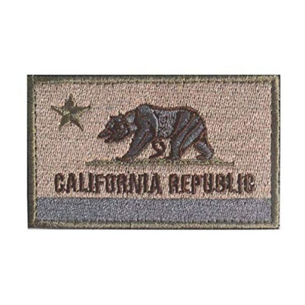Tactical Embroidery Patch Airsoft Morale Patch 1 State Flag of California Embroidery Patch Military Tactical Morale Patch Badges Emblem Applique Hook Patches for Clothes Backpack Accessories