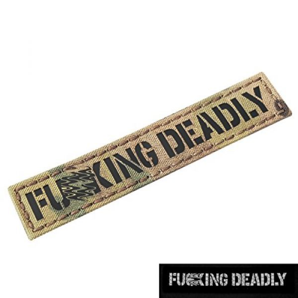 Tactical Freaky Airsoft Morale Patch 3 IR Fuing Deadly 1x5 Multicam Infrared Name Tag Callsign Morale Tactical Fastener Patch