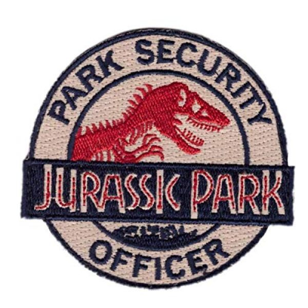 Embroidered Patch Airsoft Morale Patch 1 Jurassic Park Ranger Movie Cosplay 3D Tactical Patch Military Embroidered Morale Tags Badge Embroidered Patch DIY Applique Shoulder Patch Embroidery Gift Patch