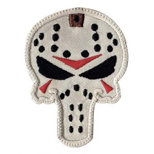 Patch Brigade Airsoft Morale Patch 1 Jason Vorhees Punish Mask Friday Parody 13Th Patch