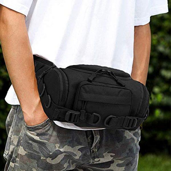 ACOMOO Tactical Pouch 5 ACOMOO Tactical Fanny Pack Portable Waist Bum Bag for Men Women Black