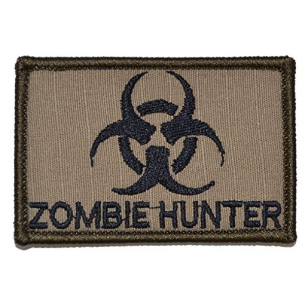 Tactical Gear Junkie Airsoft Morale Patch 1 Zombie Hunter Biohazard 2x3 Patch - Multiple Colors (Coyote Brown with Black)