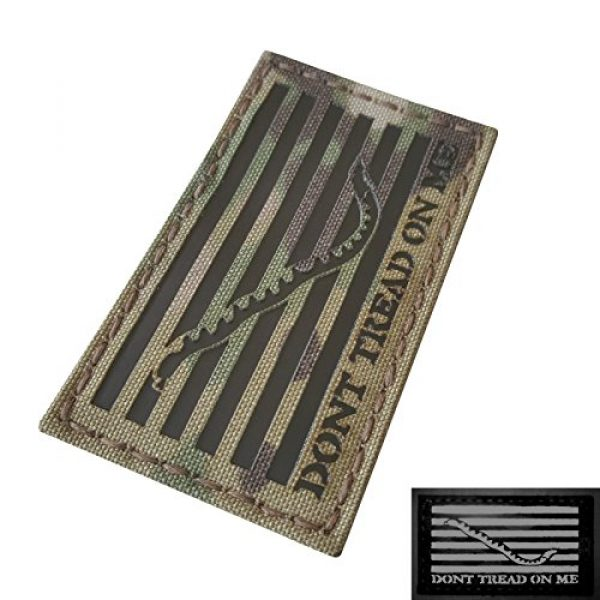 Tactical Freaky Airsoft Morale Patch 3 Multicam Infrared IR US First Navy Jack Dont Tread On Me DTOM Flag 3.5x2 Tactical Morale Hook&Loop Patch