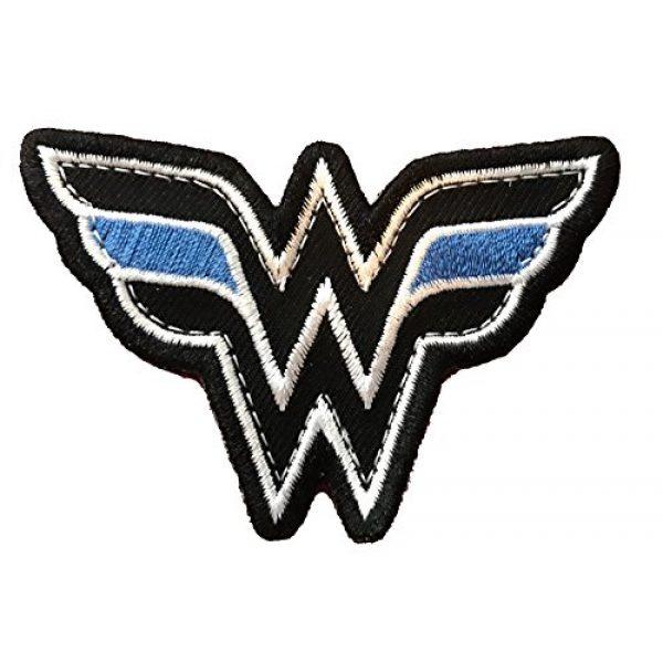 PakedDeals Airsoft Morale Patch 1 Wonder Woman Thin Blue Line Morale Patch Police Law Enforcement