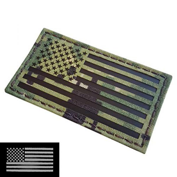 Tactical Freaky Airsoft Morale Patch 3 AOR2 IR USA American Flag 2x3.5 NWU Type III Navy Seals DEVGRU Stars and Stripes Morale Hook-and-Loop Patch