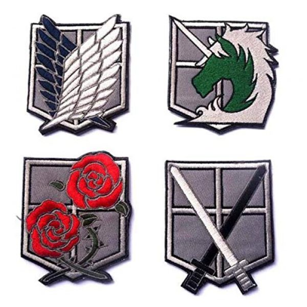Embroidered Patch Airsoft Morale Patch 1 4pc Attack on Titan 3D Tactical Patch Military Embroidered Morale Tags Badge Embroidered Patch DIY Applique Shoulder Patch Embroidery Gift Patch