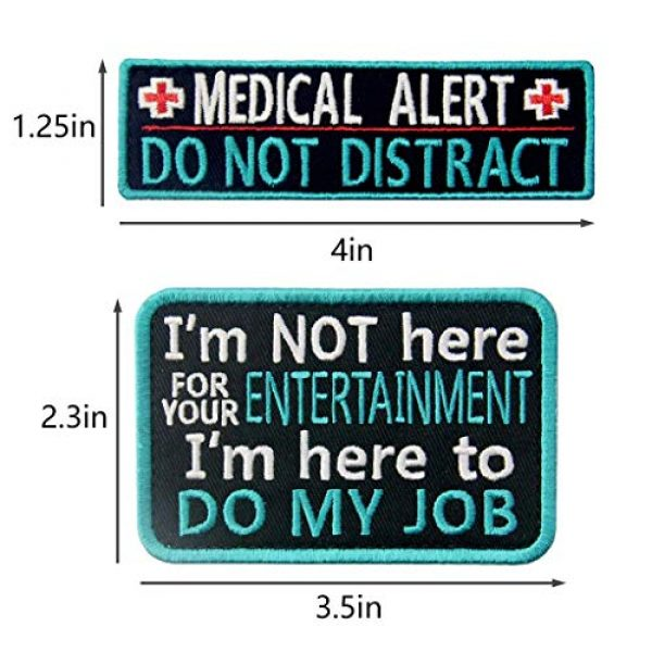 TailWag Planet Airsoft Morale Patch 3 Service Dog Medical Not All Disabilities are Visible Alert Vest/Harnesses Tactical Morale Patch Embroidered Badge Fastener Hook & Loop Emblem, 6 Pcs, Blue