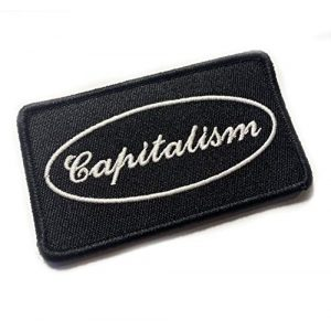 """Empire Tactical USA Airsoft Morale Patch 1 Capitalism 3.5"""" x 2"""" Embroidered Morale Patch (Hook Loop Back)"""