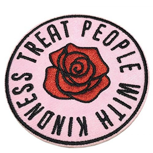 """Appalachian Spirit Airsoft Morale Patch 1 Treat People with Kindness 3"""" Embroidered Patch DIY Iron-on/Sew-on Decorative Vacation Souvenir Travel Appliques Retro Vintage 1970's Peace Van Weed Love Heart Dove Music Festival Karma Hippie"""