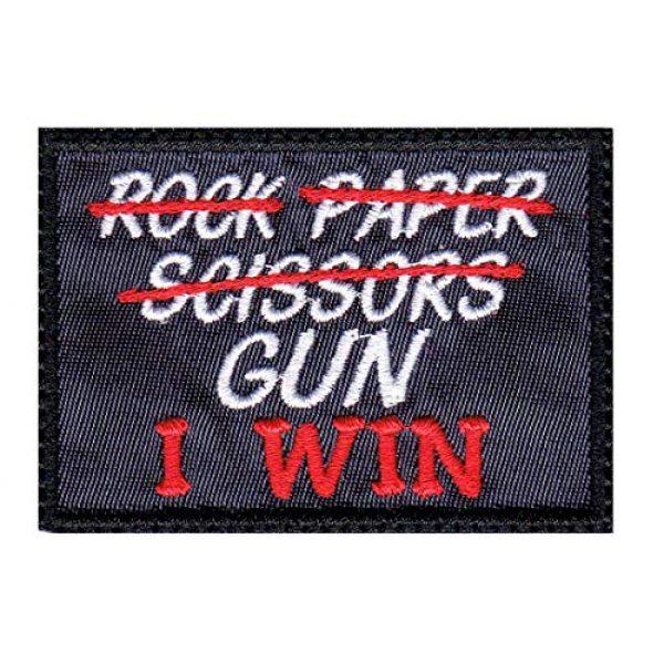 Tactical Patch Works Airsoft Morale Patch 1 Rock Paper Scissors Gun I Win Patch