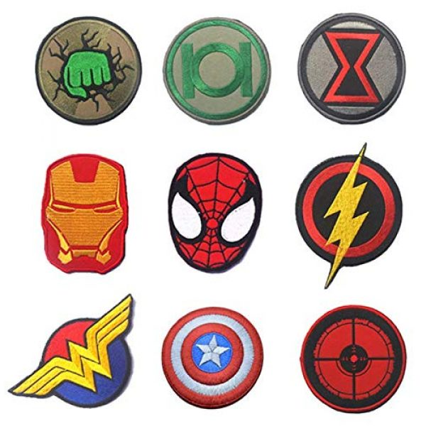 Embroidered Patch Airsoft Morale Patch 1 9pc Marvel Avengers Super Hero 3D Tactical Patch Military Embroidered Morale Tags Badge Embroidered Patch DIY Applique Shoulder Patch Embroidery Gift Patch