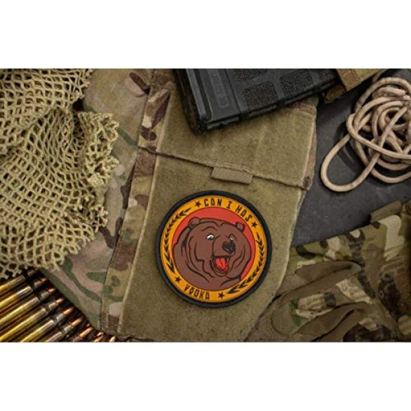 BASTION Airsoft Morale Patch 2 BASTION Morale Patches (Can I Has Vodka) | 3D PVC Patch with Hook & Loop Fastener Backing | Well-Made | Military Combat Badge Patches Ideal for Tactical Bag, Hats & Vest