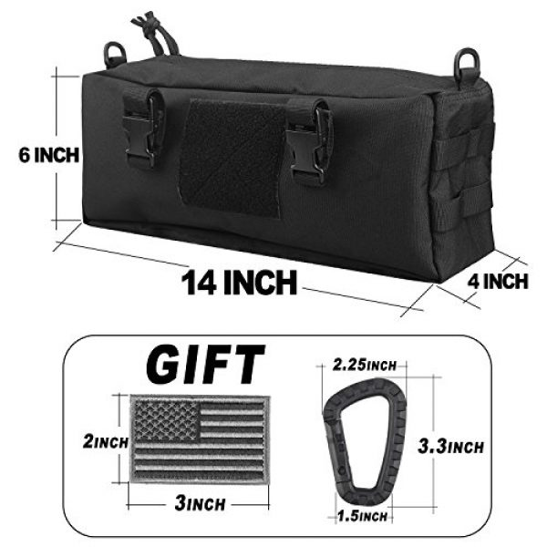 AMYIPO Tactical Pouch 2 AMYIPO Tactical Pouch Multi-Purpose Large Capacity Increment Pouch Short Trips Bag