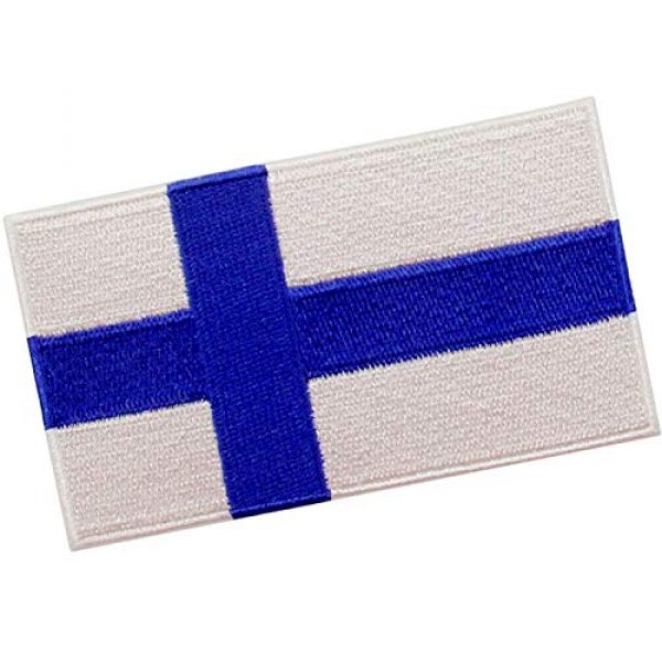 EmbTao Airsoft Morale Patch 3 EmbTao Finland Flag Patch Embroidered National Morale Applique Iron On Sew On Finnish Emblem