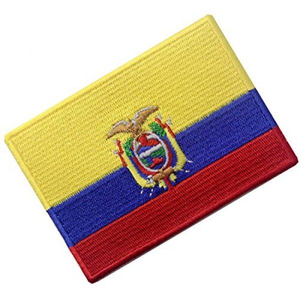 EmbTao Airsoft Morale Patch 3 Ecuador Flag Embroidered Emblem Ecuadorian Iron On Sew On National Patch
