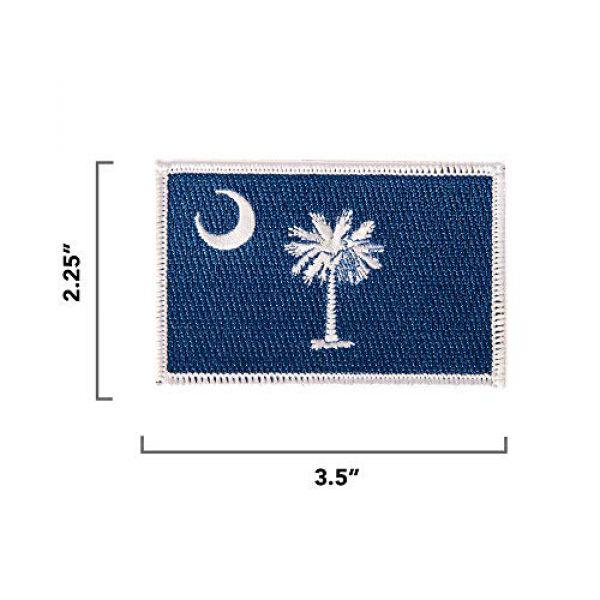 Desert Cactus Airsoft Morale Patch 2 South Carolina Flag Patch 3.5 inch x 2.25 inch Iron On Sew Embroidered Tactical Backpack Hat Bags (Single Patch)