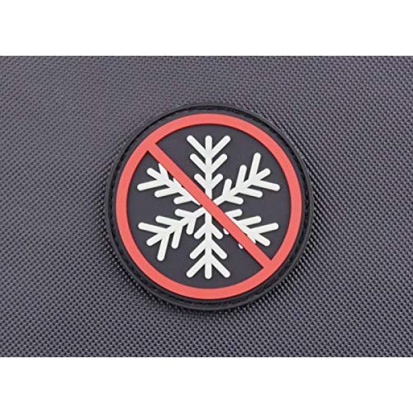 BritKitUSA Airsoft Morale Patch 1 BritKitUSA 3D PVC No Snowflakes Allowed GITD Morale Patch Glow Generation Snowflake Trigger