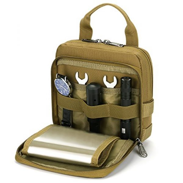 Barbarians Tactical Pouch 1 Barbarians Tactical Admin Pouch, MOLLE Military Tool Map Bag Organizer
