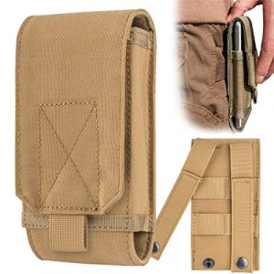 YINGYUE Tactical Pouch 1 YINGYUE Tactical MOLLE Holster Army Mobile Phone Belt Pouch EDC Security Pack Hip Waist Belt Bag Wallet Pouch Purse Phone Case for Mobile Phone Belt Pouch Holster Cover Case 5.5Inch