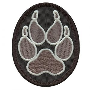 LEGEEON Airsoft Morale Patch 1 LEGEEON ACU Subdued K-9 Paw K9 Handler Dogs of War Morale Army Gear Embroidery Hook&Loop Patch