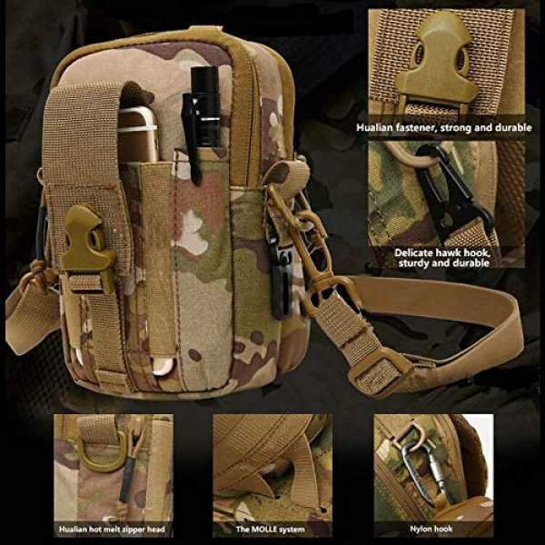 ANTARCTICA Tactical Pouch 6 ANTARCTICA 1050D Tactical Molle EDC Pouch Waist Bag Cell Phone Holster Holder Outdoor Hip Waist Belt Bag Wallet Purse