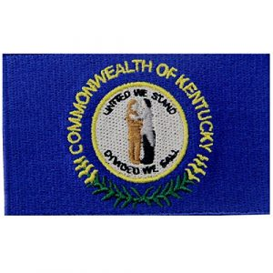 EmbTao Airsoft Morale Patch 1 Kentucky State Flag Embroidered Emblem Iron On Sew On KY Patch