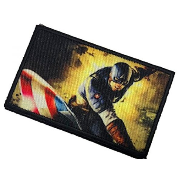 Fine Print Patch Airsoft Morale Patch 3 WWII Captain America with a BAR Morale Patch Tactical