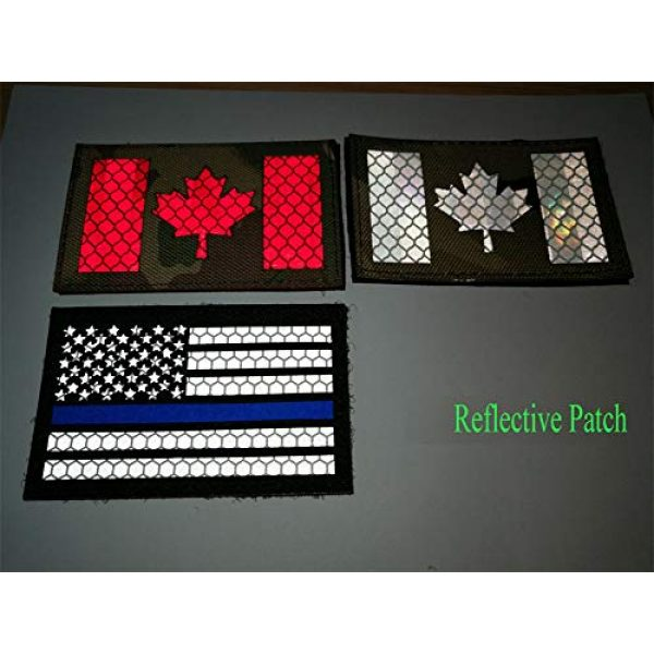 HNGKIANGHU Airsoft Morale Patch 4 2x3.15 Inch Reflective Thin Blue Line US USA American Flag Morale Tactical Police Patches Hook-Fastener Backing 3D Patch (A-1 pcs)