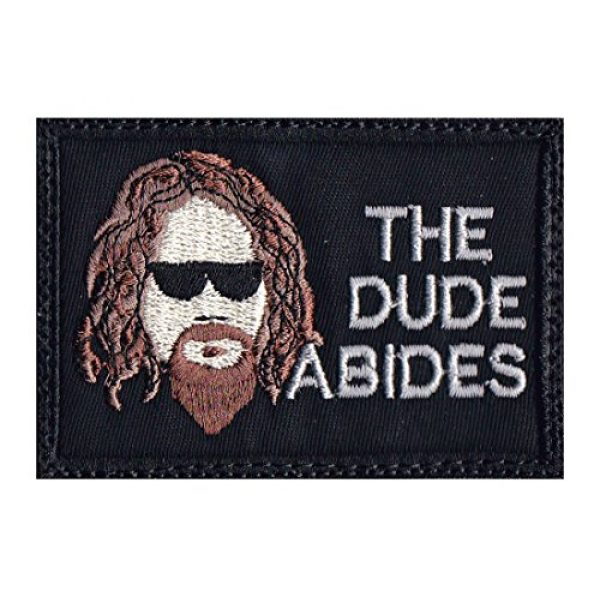 Tactical Patch Works Airsoft Morale Patch 1 Big Lebowski The Dude Abides Patch