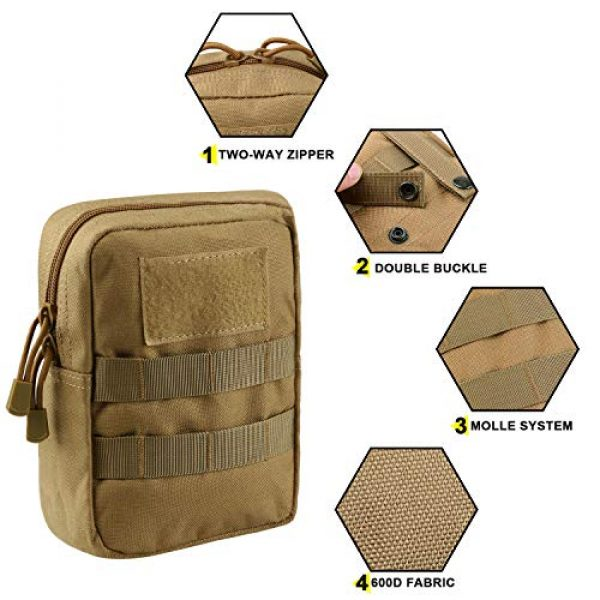 AMYIPO Tactical Pouch 3 AMYIPO Tactical Admin Molle Pouch Multi-Purpose Tool Holder Modular Utility Bag Tools EDC Admin Attachment Pouches