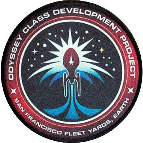 Fine Print Patch Airsoft Morale Patch 1 Star Trek Odyssey Class Development Project San Francisco Fleet Yards,Earth Military Hook Loop Tactics Morale Patch