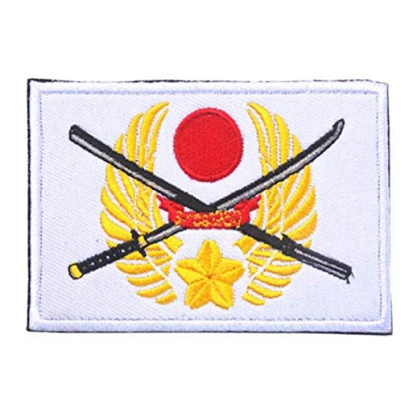 Tactical Embroidery Patch Airsoft Morale Patch 1 Japan Flag Embroidery Patch Military Tactical Morale Patch Badges Emblem Applique Hook Patches for Clothes Backpack Accessories