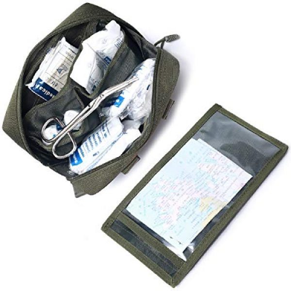 Azarxis Tactical Pouch 6 Azarxis Tactical MOLLE Rip-Away EMT Medical First Aid IFAK Blowout Pouch Trauma Bag