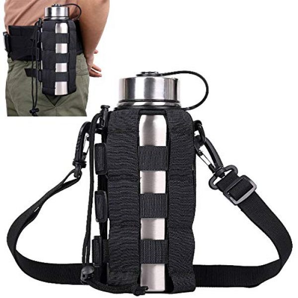 ATBP Tactical Pouch 1 ATBP Tactical Water Bottle Pouch Holder Military Hydration Carrier Waist Fanny Pack for Molle Backpack Vest Bike Bottle Cage Bag
