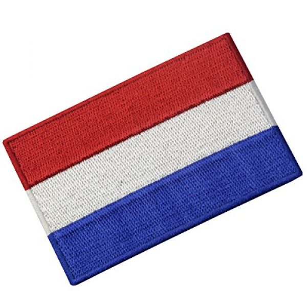 EmbTao Airsoft Morale Patch 4 The Netherlands Flag Embroidered Holland National Emblem Dutch Iron On Sew On Patch