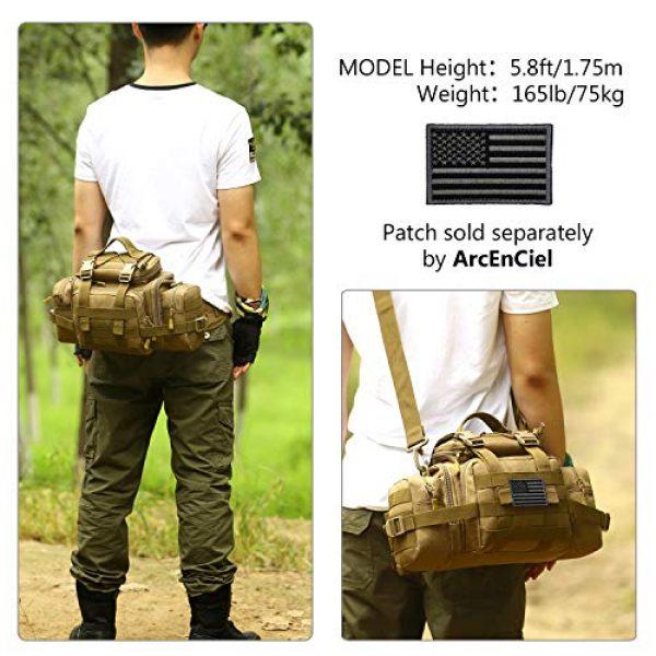 ArcEnCiel Tactical Pouch 2 ArcEnCiel Tactical Duffle Bag Fishing Fanny Pack Range Bags Men Gym Military Molle Shoulder Bags Waist Camera Sports Handbag