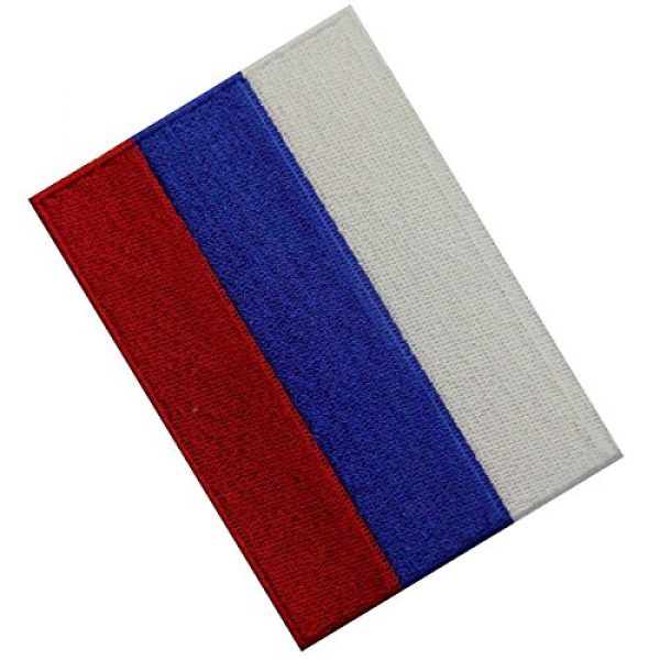 EmbTao Airsoft Morale Patch 4 Russia Flag Embroidered Emblem Russian Federation Iron On Sew On National Patch