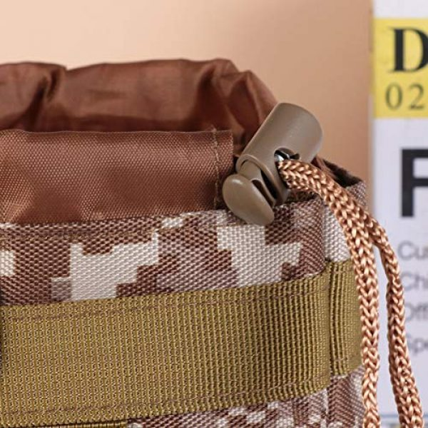 BESPORTBLE Tactical Pouch 2 BESPORTBLE Molle Water Bottle Bag Military Kettle Holder Hydration Carrier Crossbody Pouch Pocket for Camping Climbing Cycling Hiking Travelling Black