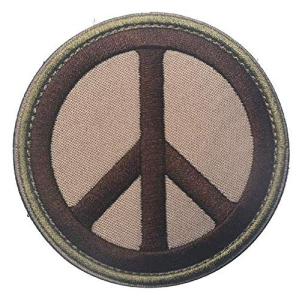 Embroidered Patch Airsoft Morale Patch 1 Peace Sign 3D Tactical Patch Military Embroidered Morale Tags Badge Embroidered Patch DIY Applique Shoulder Patch Embroidery Gift Patch