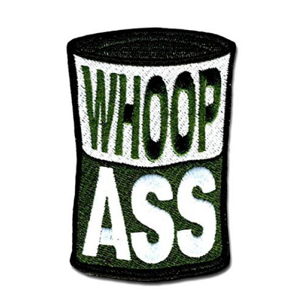 BASTION Airsoft Morale Patch 1 BASTION Morale Patches (Can of Whoopaxx, Green) | 3D Embroidered Patches with Hook & Loop Fastener Backing, Well-Made Clean Stitching Military Patches Ideal for Tactical Bag, Hats & Vest
