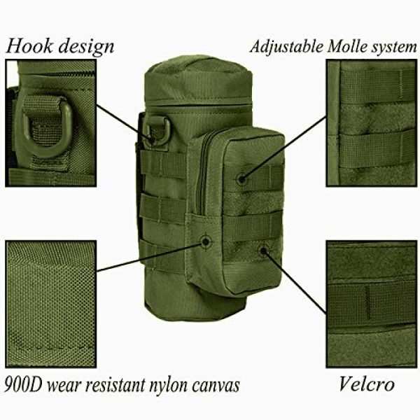 AOCK Tactical Pouch 6 AOCK Tactical Molle Water Bottle Pouch for Outdoor Travel Activities Military Camping Hiking Bag Outdoor Bag