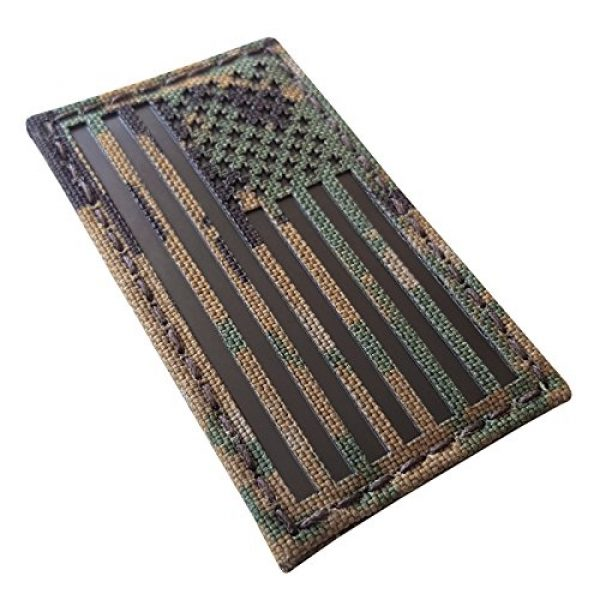 Tactical Freaky Airsoft Morale Patch 1 MARPAT Digital Woodland Infrared IR USA American Flag 3.5x2 IFF Tactical Morale Fastener Patch