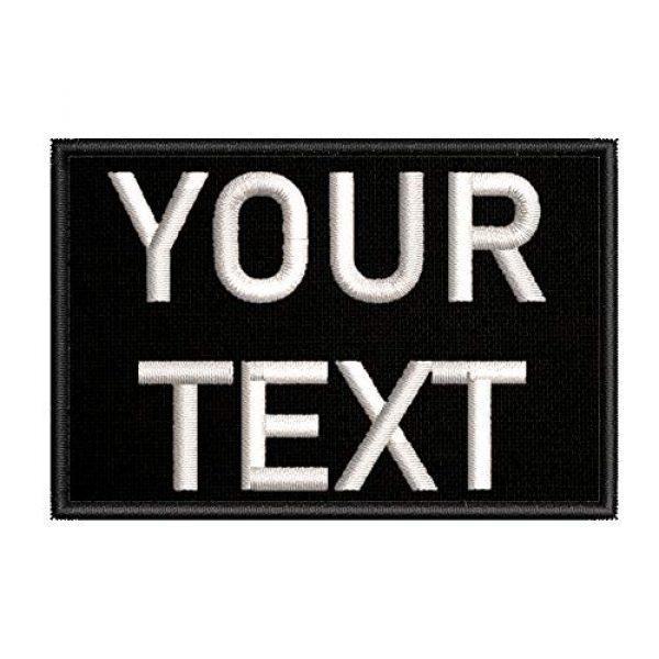Appalachian Spirit Airsoft Morale Patch 2 Customizable Text Patch - 2x3 Morale Patch - Black