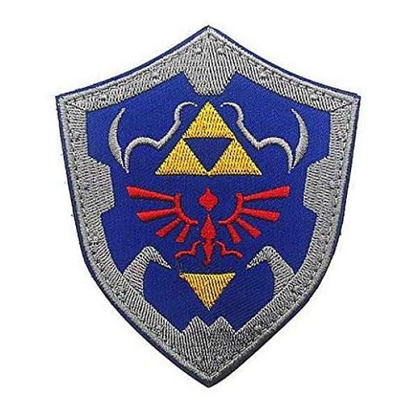 Embroidery Patch Airsoft Morale Patch 1 The Legend of Zelda Link Shield Military Hook Loop Tactics Morale Embroidered Patch