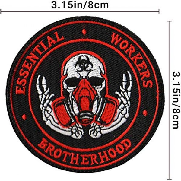 APBVIHL Airsoft Morale Patch 4 4 PCS Operation Enduring Cluster Fuck Outbreak Team Response Embroidered Patch, Brotherhood Essential Workers Embroidery Patches, Tactical Military Morale Applique Badge Fastener Hook and Loop Backing
