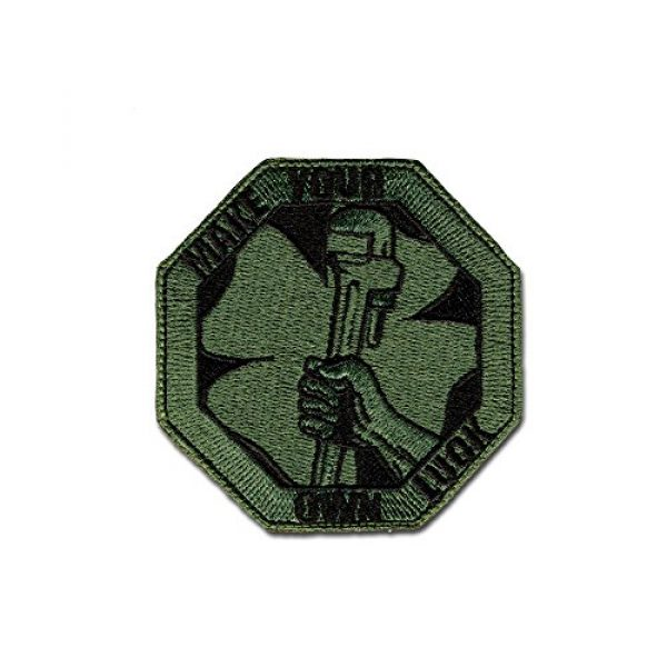 BASTION Airsoft Morale Patch 1 BASTION Morale Patches (Own Luck, Green)   3D Embroidered Patches with Hook & Loop Fastener Backing   Well-Made Clean Stitching   Military Patches Ideal for Tactical Bag, Hats & Vest