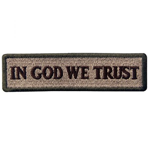 EmbTao Airsoft Morale Patch 1 EmbTao in GOD We Trust Embroidered Tactical Morale Iron On Sew On Patch - Multitan