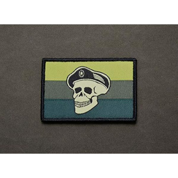 BritKitUSA Airsoft Morale Patch 2 BritKitUSA Subdued Spetsnaz Skull Russian Flag Morale Patch Rushing Russians Milsim West