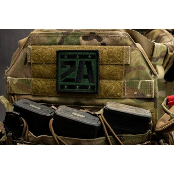 BASTION Airsoft Morale Patch 5 BASTION Morale Patches (2A Supporter, ACU)   3D Embroidered Patches with Hook & Loop Fastener Backing   Well-Made Clean Stitching   Military Patches Ideal for Tactical Bag, Hats & Vest