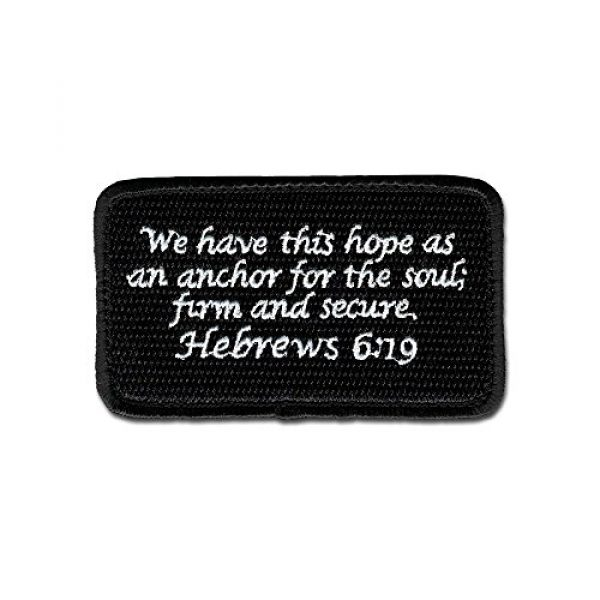BASTION Airsoft Morale Patch 1 BASTION Morale Patches (Hebrews 6:19, BNW) | 3D Embroidered Patches with Hook & Loop Fastener Backing | Well-Made Clean Stitching | Christian Patches Ideal for Tactical Bag, Hats & Vest
